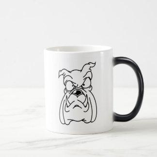 bbig ddog Bulldog head morphing ceramic mug