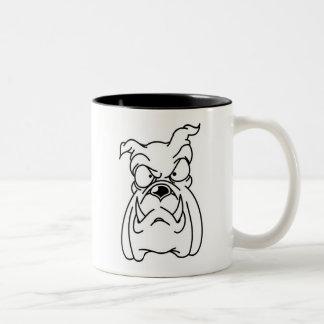 bbig ddog Bulldog head two-toned ceramic mug