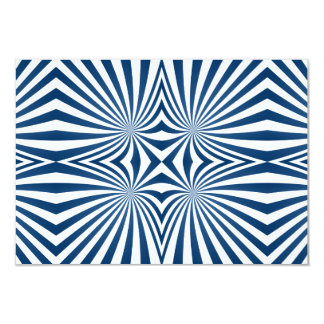 bBlue repeating hypnotic pattern Card