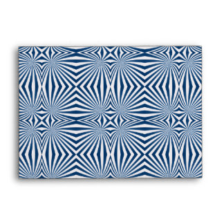 bBlue repeating hypnotic pattern Envelope