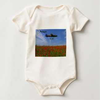 BBMF and poppies Baby Bodysuit