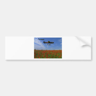 BBMF and poppies Bumper Sticker