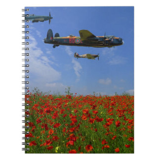 BBMF and poppies Spiral Notebook