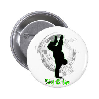 Bboy botón de 4 vidas pin redondo de 2 pulgadas