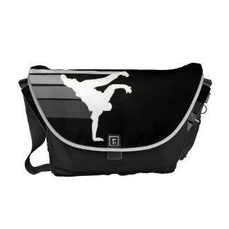 BBOY gradient gray/wht messenger bag