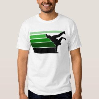 BBOY gradient grn blk T Shirt
