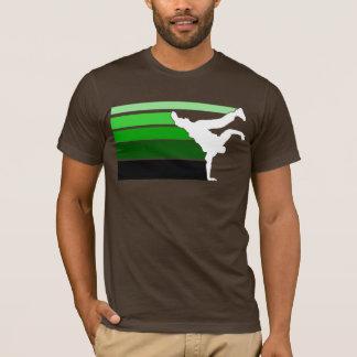 BBOY gradient grn wht T-Shirt