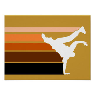 BBOY gradient orgn wht poster