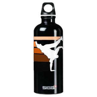 BBOY lines orange Aluminum Water Bottle