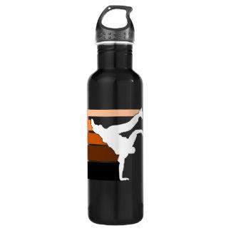 BBOY lines orange Stainless Steel Water Bottle