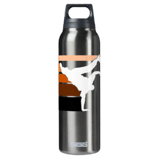 BBOY lines orange Thermos Water Bottle