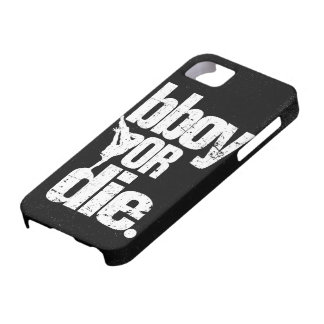 bboy or die  - white distressed iPhone 5 cover