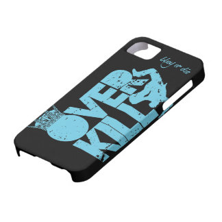 bboy overkill - blue and black iPhone 5 cover