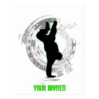 Bboy Party Invitation Post Card