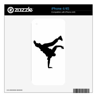 BBOY pose black phone skin Skins For The iPhone 4
