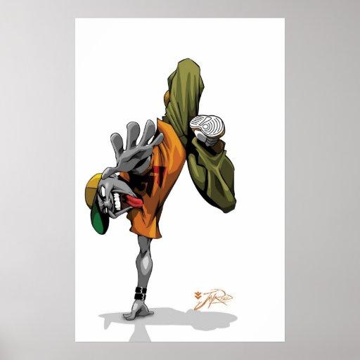 BBOY pose Poster
