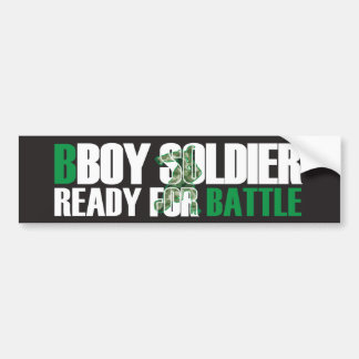 BBoy Soldier Bumper Sticker Car Bumper Sticker