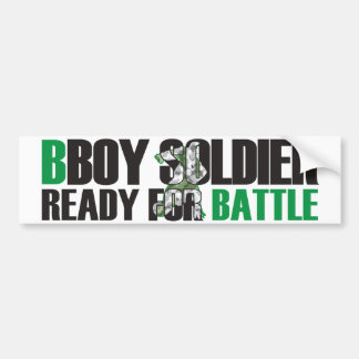 BBoy Soldier Bumper Sticker