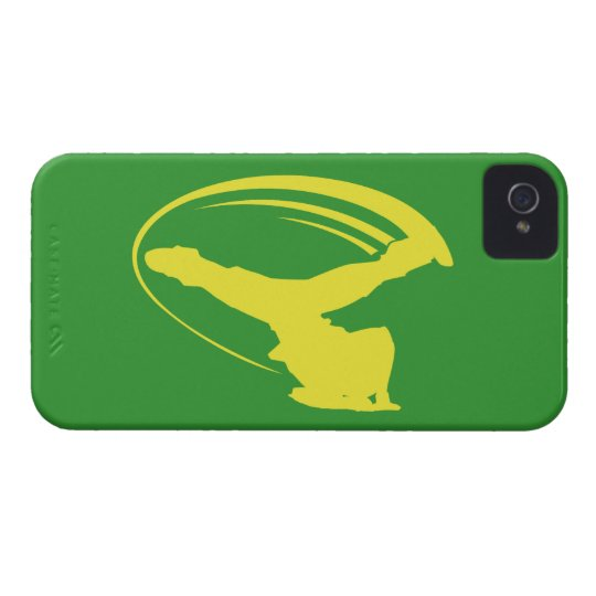 BBOY windmill yellow iphone4s iPhone 4 Case-Mate Case