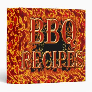 """Bbq 1,5"""" carpeta de la receta"""