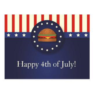 Bbq 4to de la postal del fiesta de julio