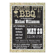 BBQ 50th Birthday Party Invitation at Zazzle