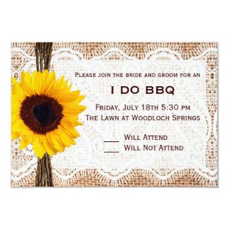 "BBQ and Breakfast Wedding RSVP 3.5"" X 5"" Invitation Card"