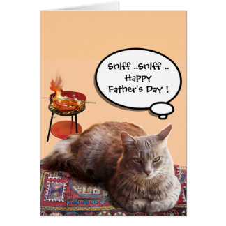 BBQ AND FATHER'S DAY CAT CARD