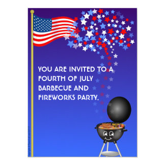 """BBQ and Fireworks - 5.5"""" x 7.5"""" Card"""
