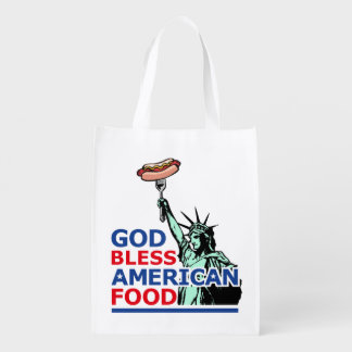 BBQ and grill idea: God Bless American Food, Grocery Bag