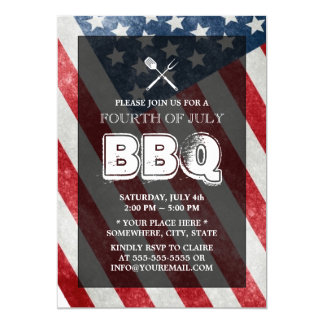 BBQ Annual July 4th Party Card