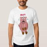¡Bbq asustado del cerdo del dibujo animado?! Playera