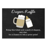 BBQ Baby Shower Diaper Raffle Tickets Large Business Card