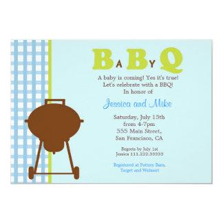 "BBQ Baby Shower Invitation 5"" X 7"" Invitation Card"
