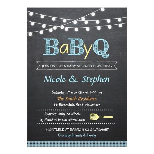 BBQ Baby Shower Invitation / Babyq
