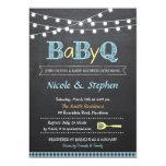 "BBQ Baby Shower Invitation / Babyq 5"" X 7"" Invitation Card"
