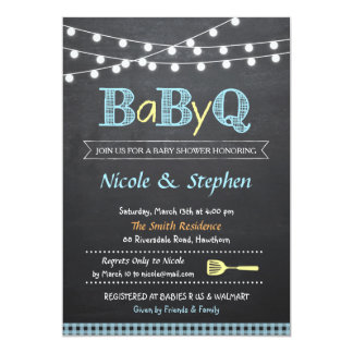 Bbq Baby Shower Invitations Announcements Zazzle