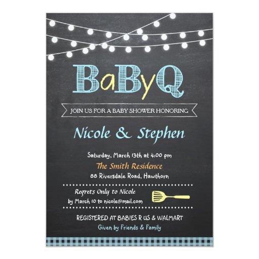 bbq baby shower invitation babyq zazzle
