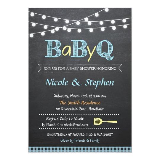 bbq baby shower invitation    babyq