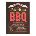 BBQ Baby Shower Invitation - Pink Custom Invites