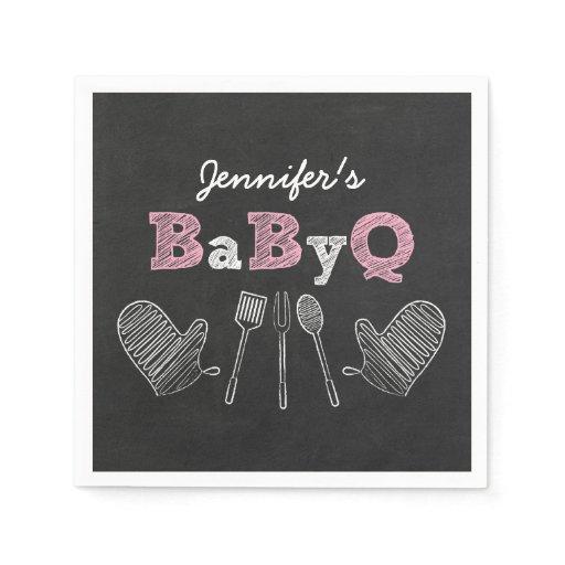 BBQ Baby Shower Napkins