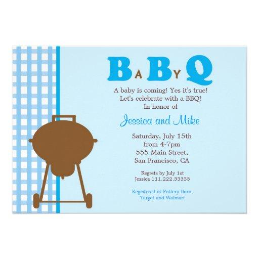 bbq babyq baby shower invitation 5 x 7 invitation card zazzle