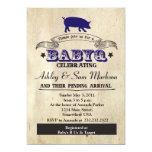 BBQ BABYQ Barbecue Blue Boy Invitations