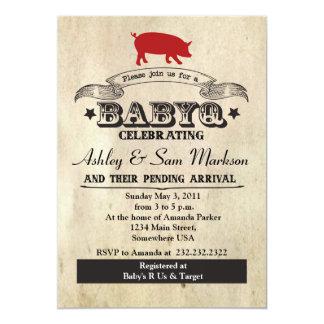 BBQ BABYQ Barbecue 5x7 Paper Invitation Card