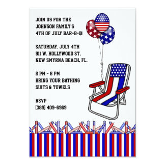 BBQ, Bar-B-Q, 4th of July Party Invite! Card