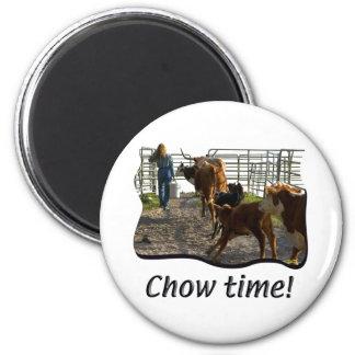 Bbq - Barbacoa - tiempo del perro chino Imán Redondo 5 Cm