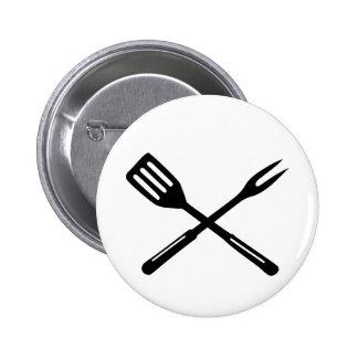 BBQ - Barbecue 2 Inch Round Button