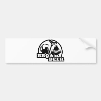 BBQ barbecue beer Bumper Stickers
