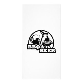 BBQ barbecue beer Photo Cards