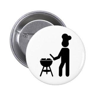 BBQ barbecue Cook chef 2 Inch Round Button